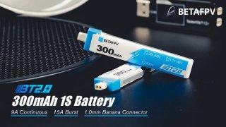 Meteor65用 BT2.0 300mAh 1S 30C HV Battery (1pcs)