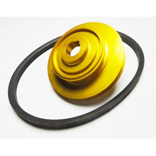 BEAT 軽量エアコン回転数減速クランクプーリー(専用ベルト付)