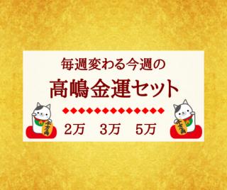 【大人気】<br>毎週変わる高嶋金運セット《5万円セット》<br>【美と金運の高嶋化粧品】