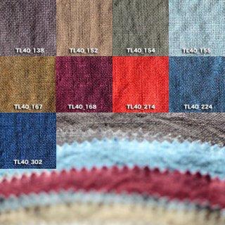 Fanage linen(天日干しリネン)100%生地 TL4400 138から302 40番手使用