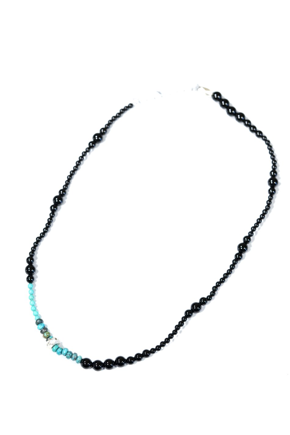 Cut Beads Stretch Necklace /White