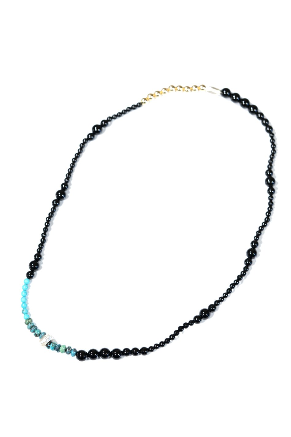 Cut Beads Stretch Necklace /14KGFLD