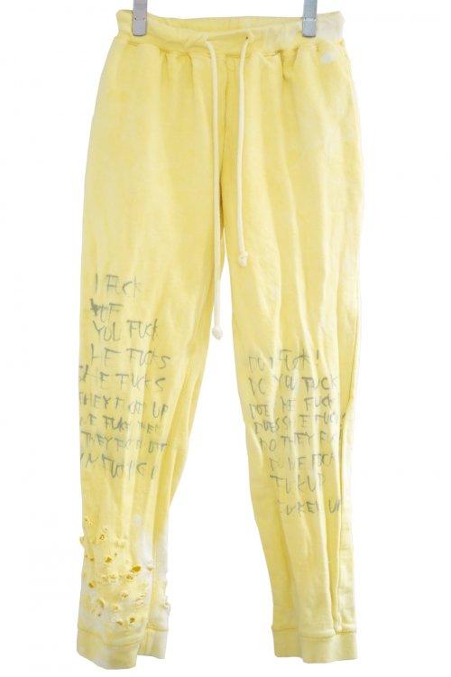 DESTROY ''FUCKS'' Sweat pants Yellow