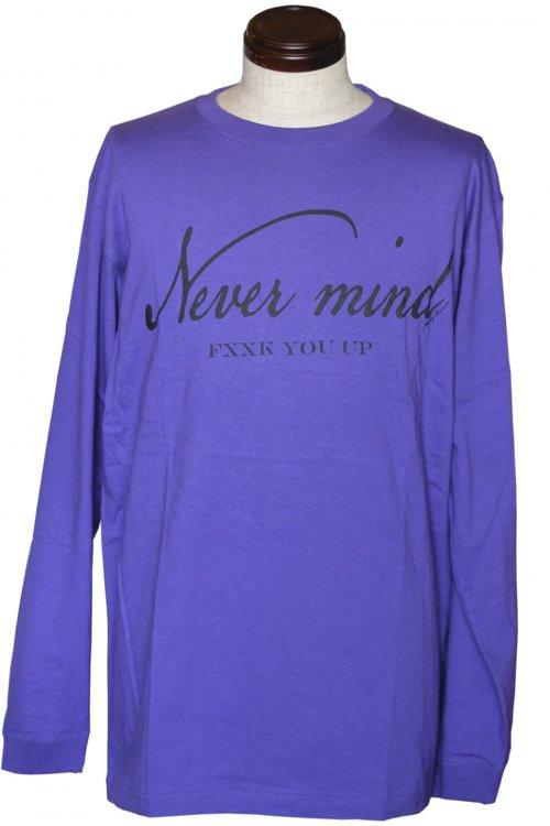 NEVER MIND FXXK YOU UP L/S Purple Black