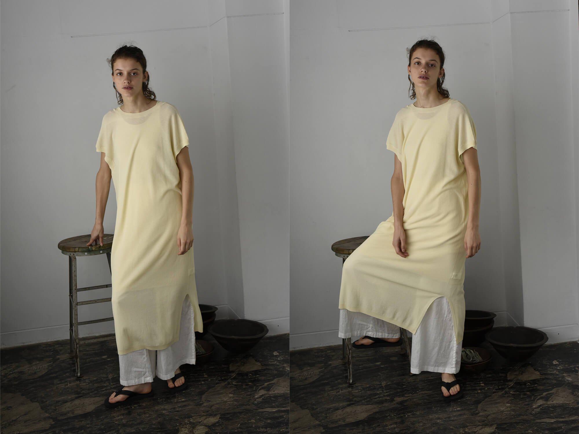 dry touch cotton pique-knit dress