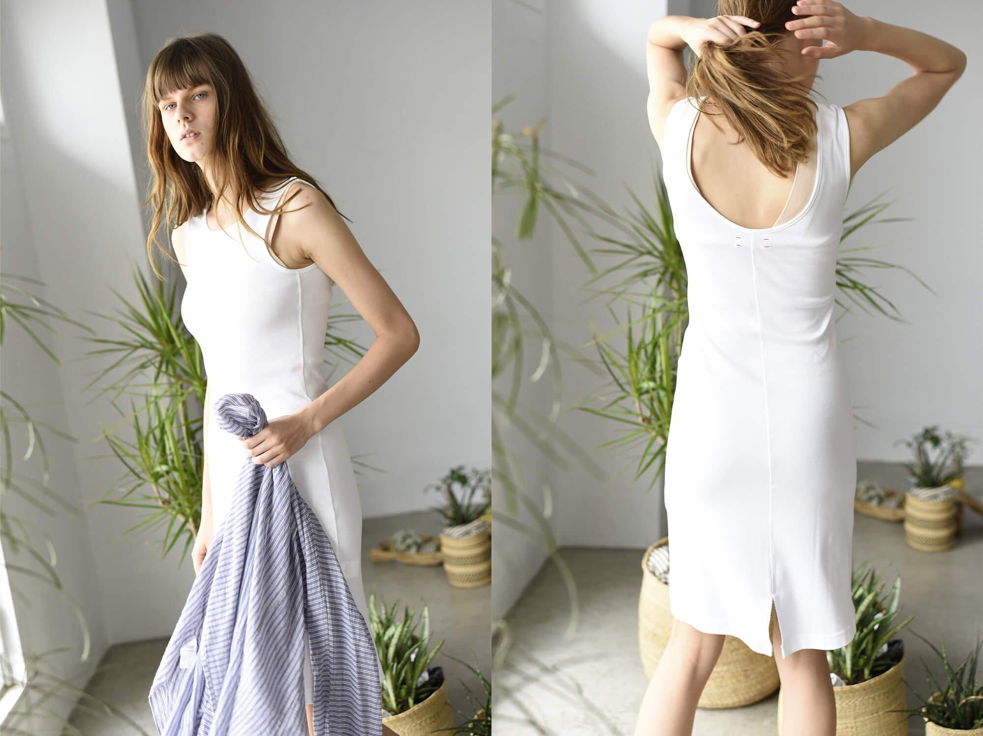 suvin cotton fraise tank dress