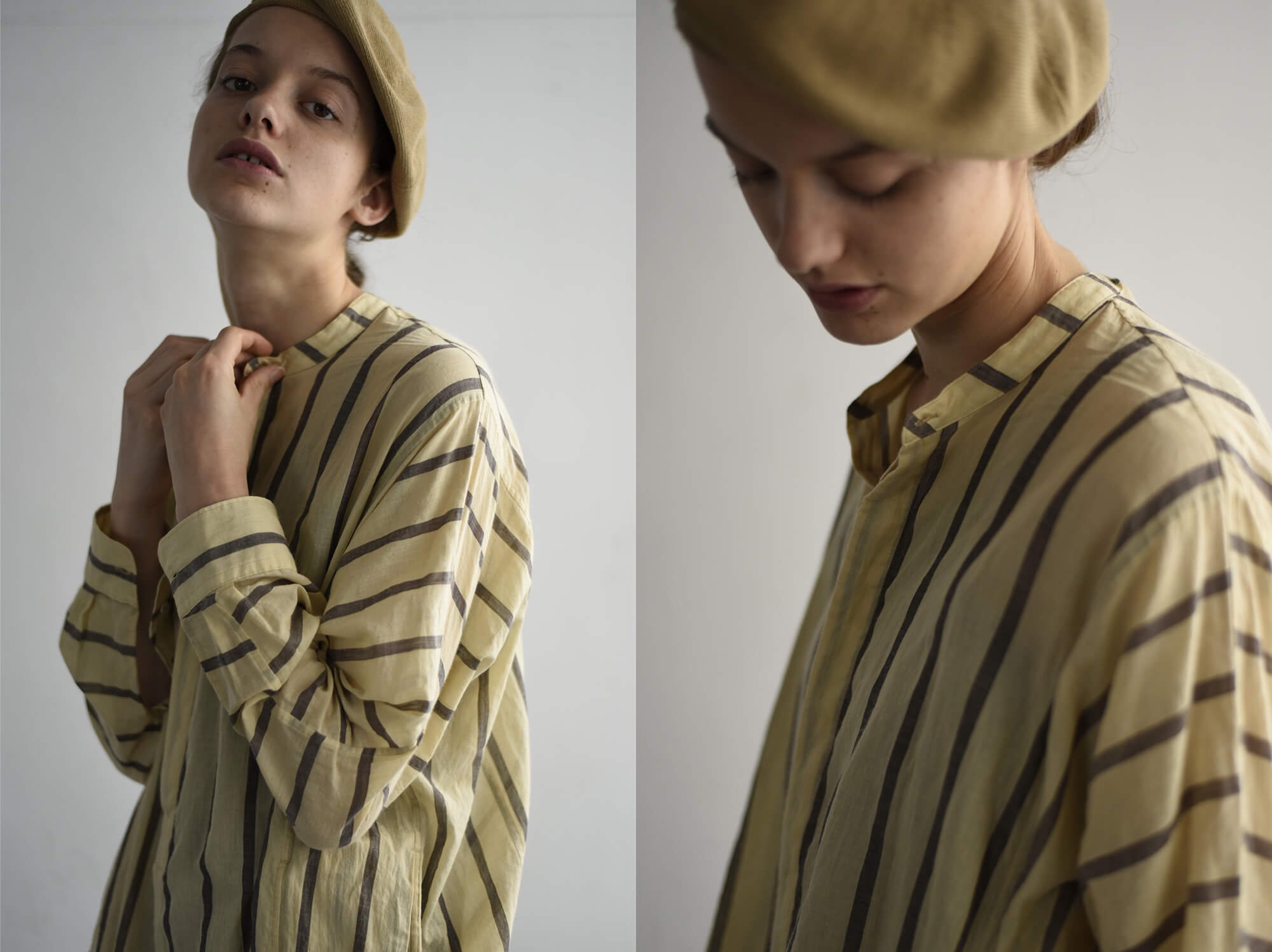 masterseed cotton striped voile shirt dress