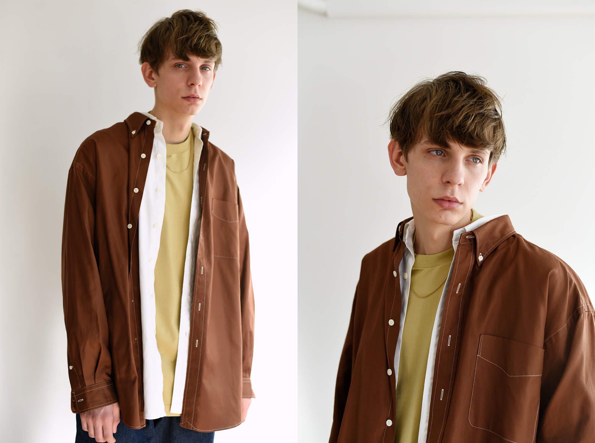 cotton shuttle oxford button-down shirt