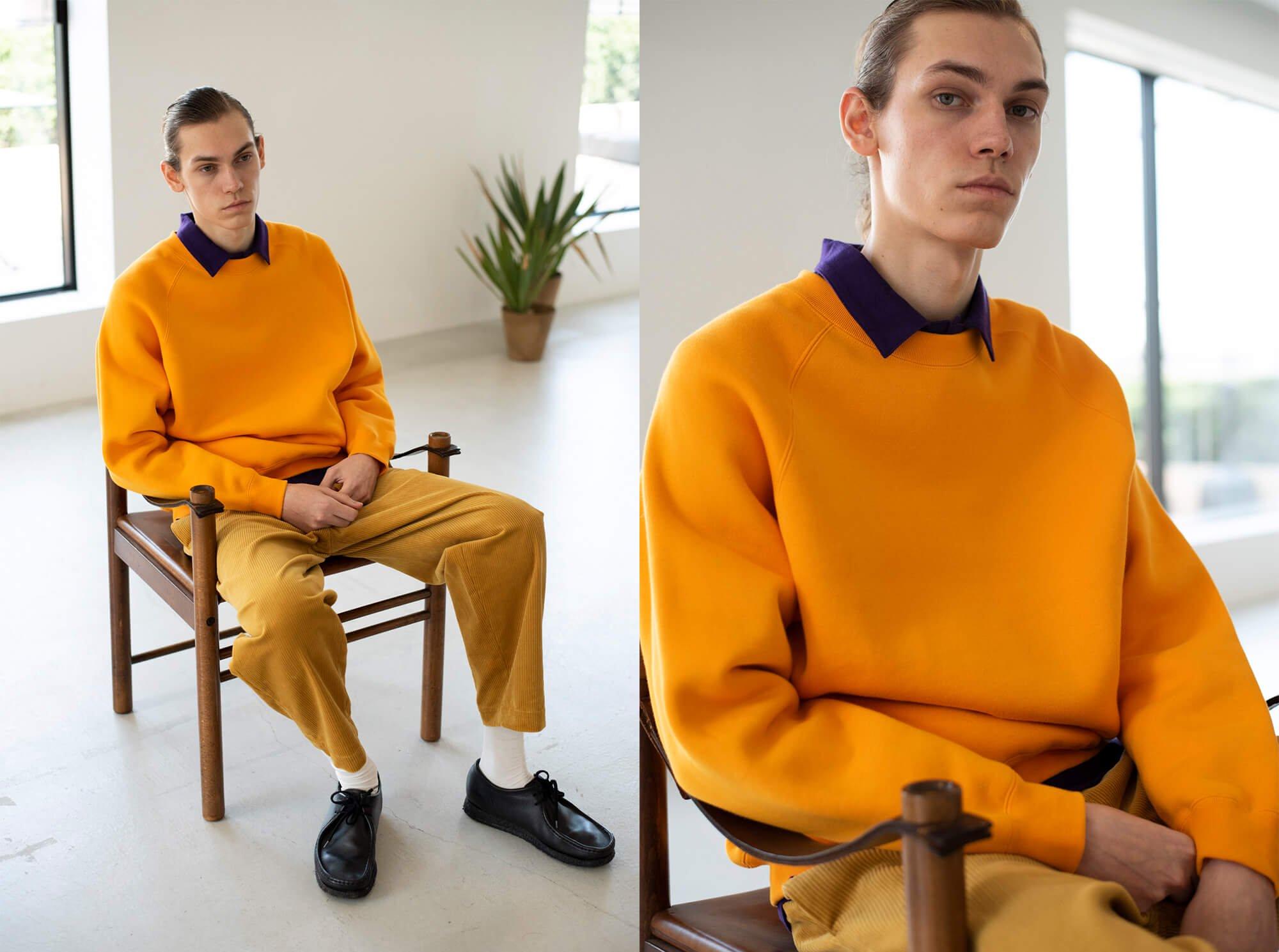cotton-terry crewneck pullover