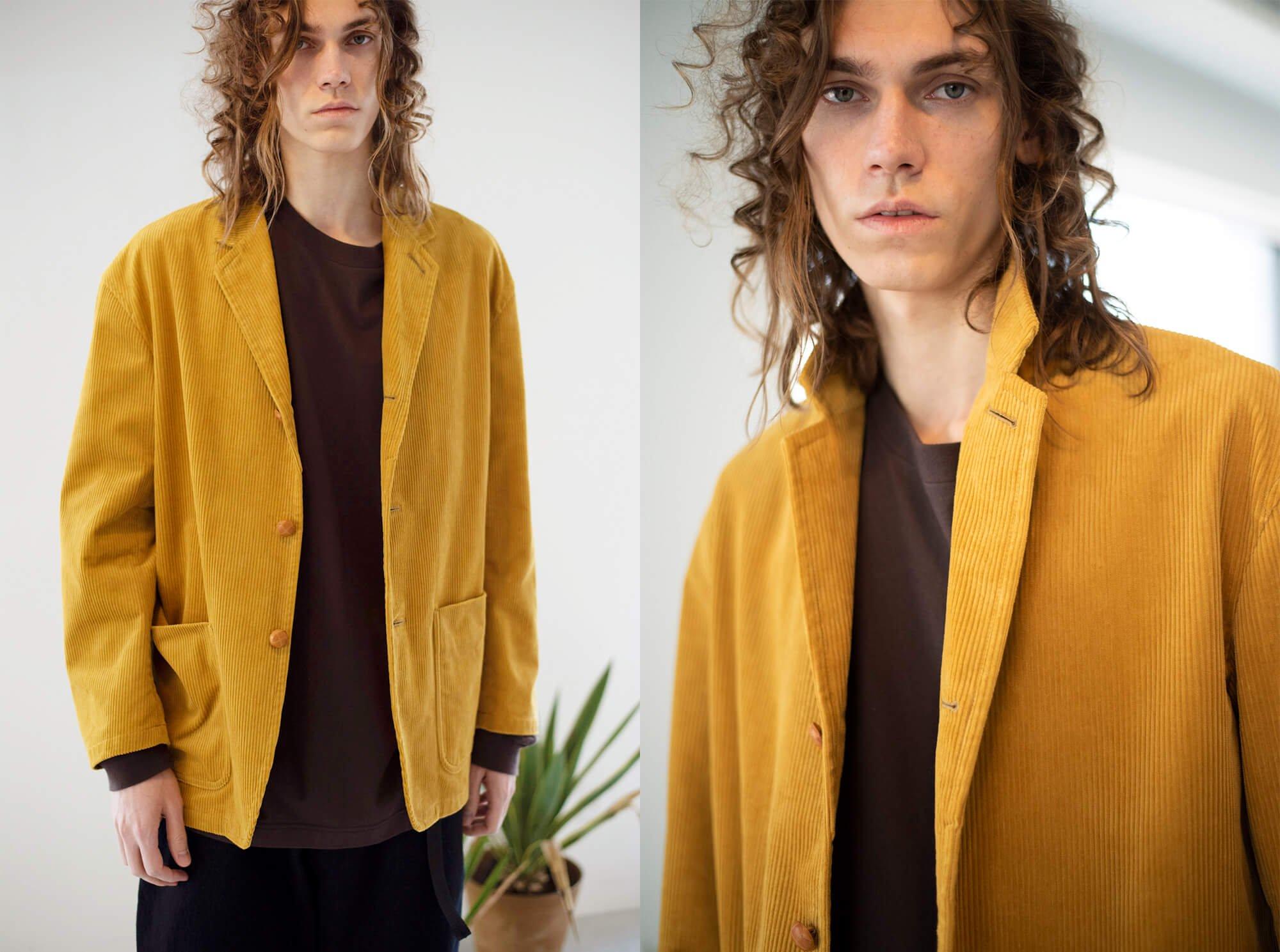 wide wale corduroy blazer