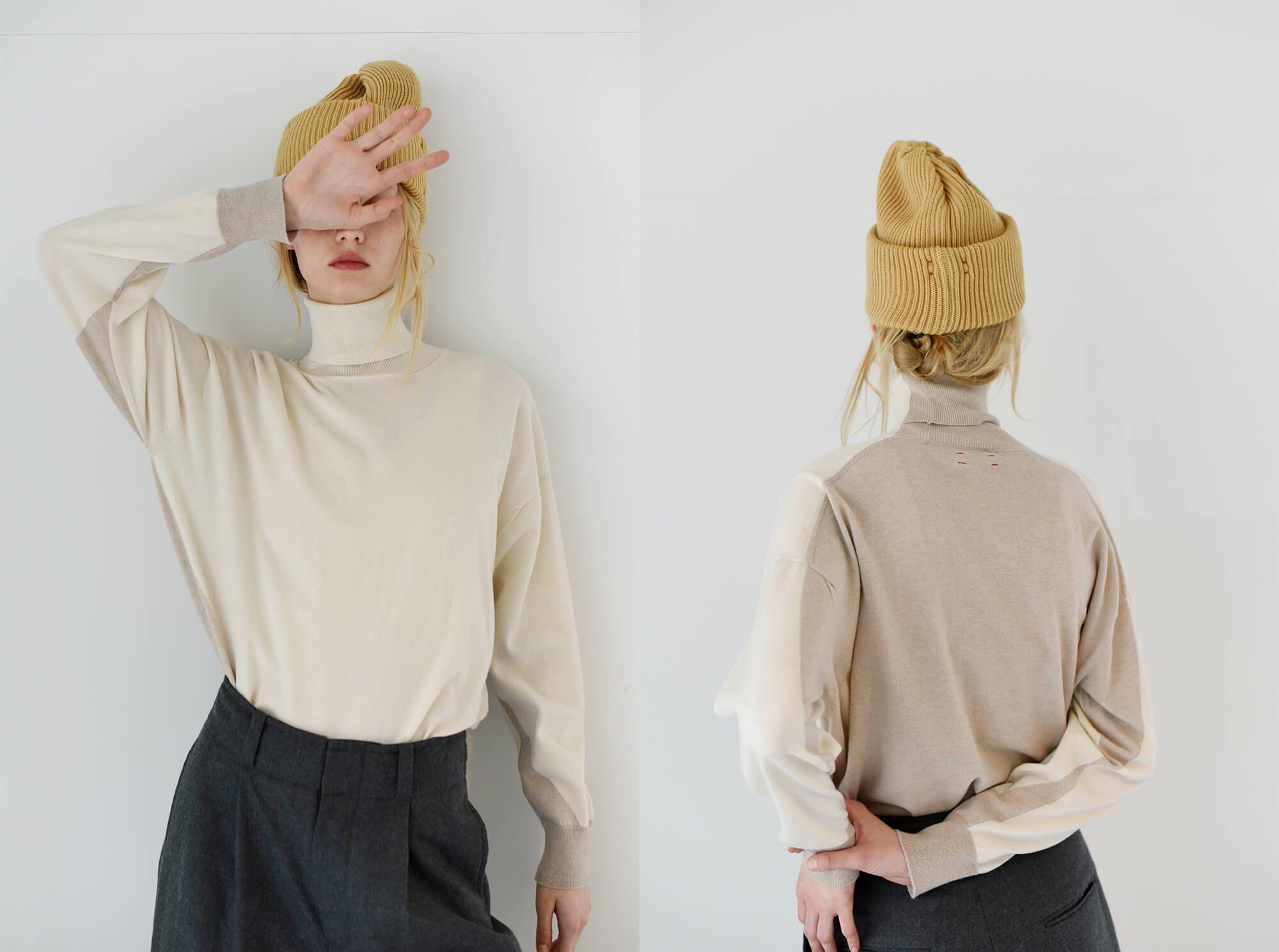cashmere intarsia sweater