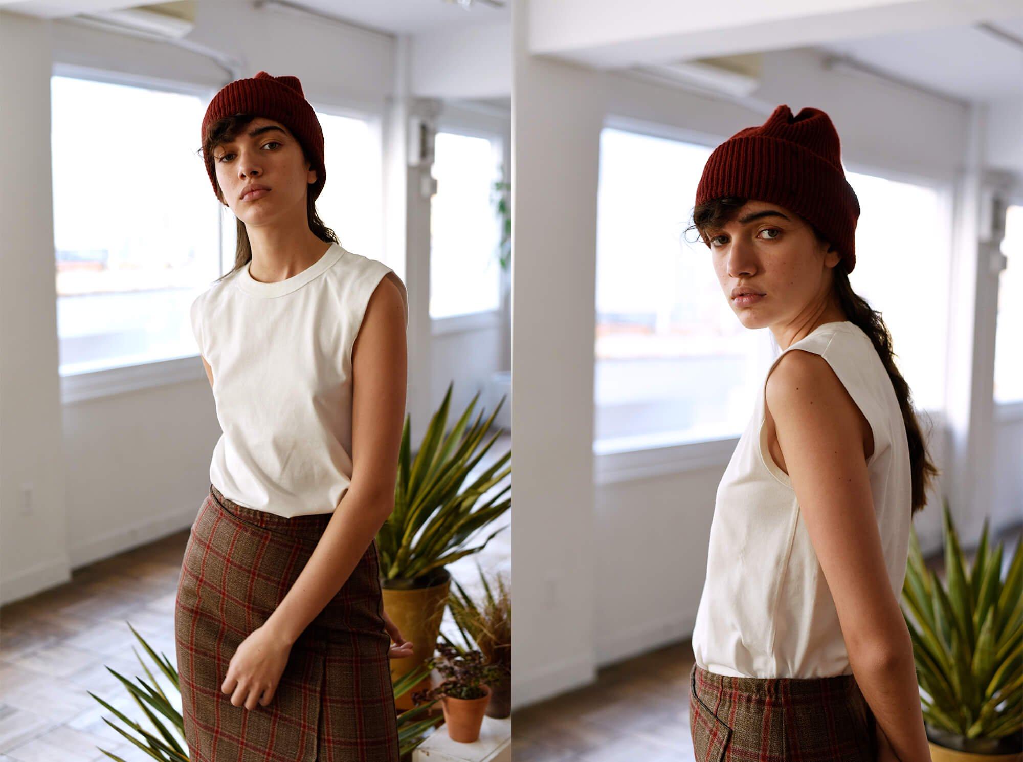 organic cotton jersey sleeveless Tee