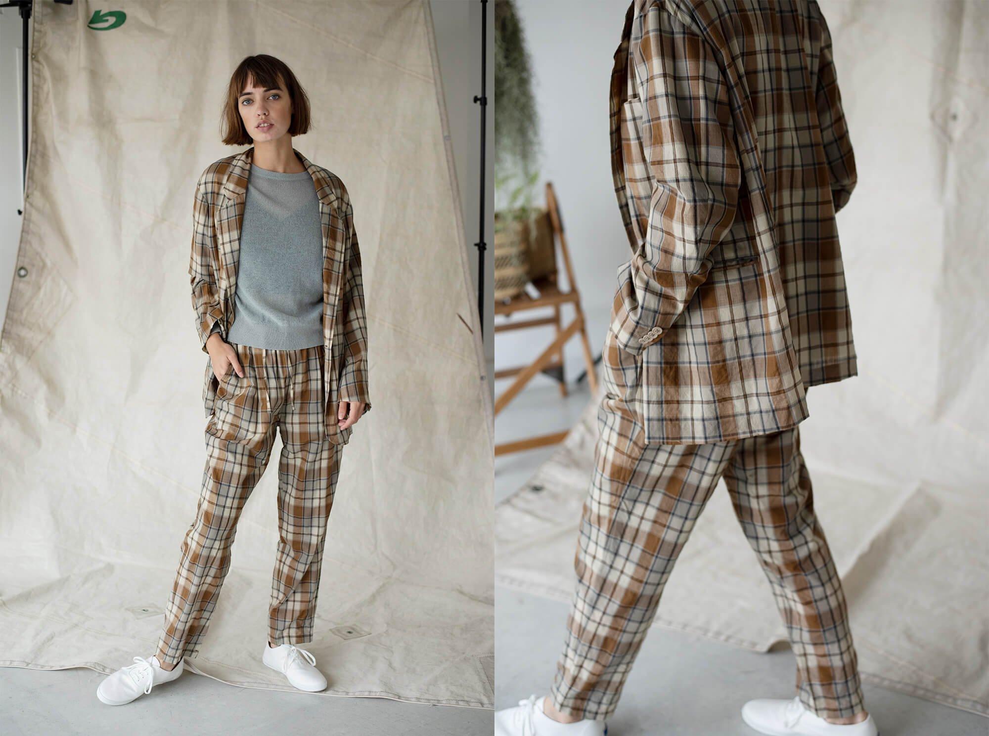 semi-sheer wool-voile long jacket