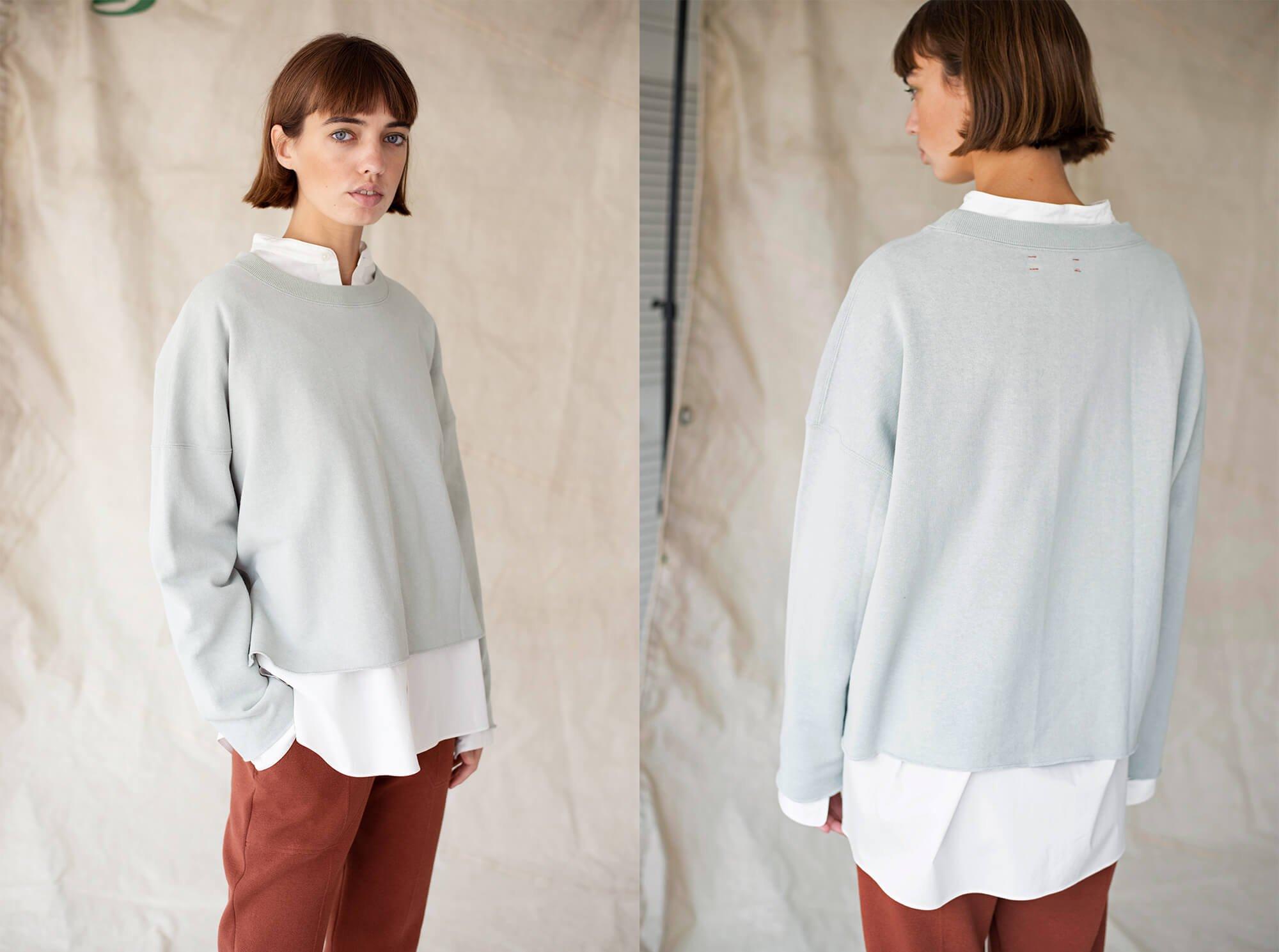 paper & cotton-terry sweatshirt