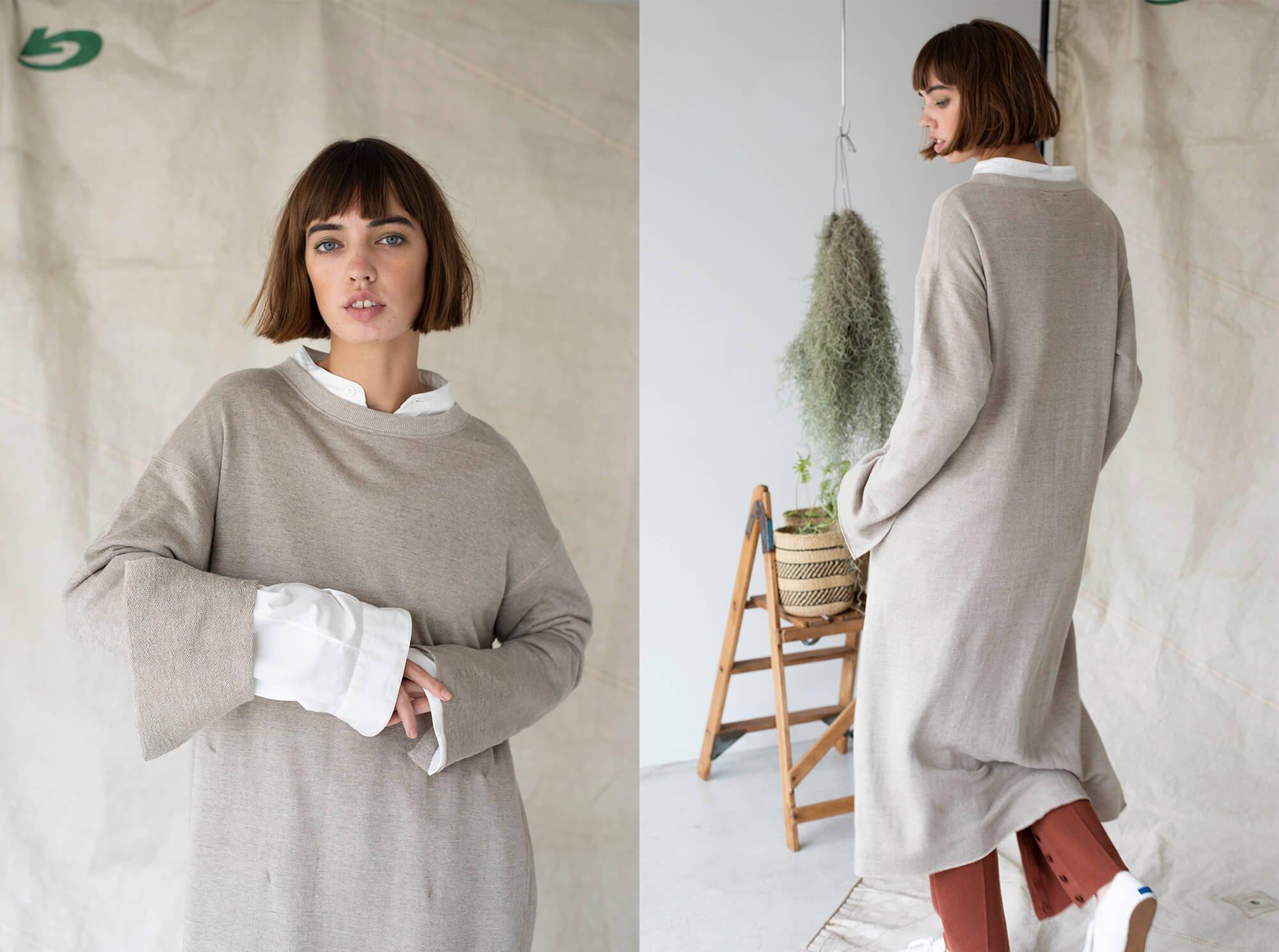 soft linen-terry sweatdress