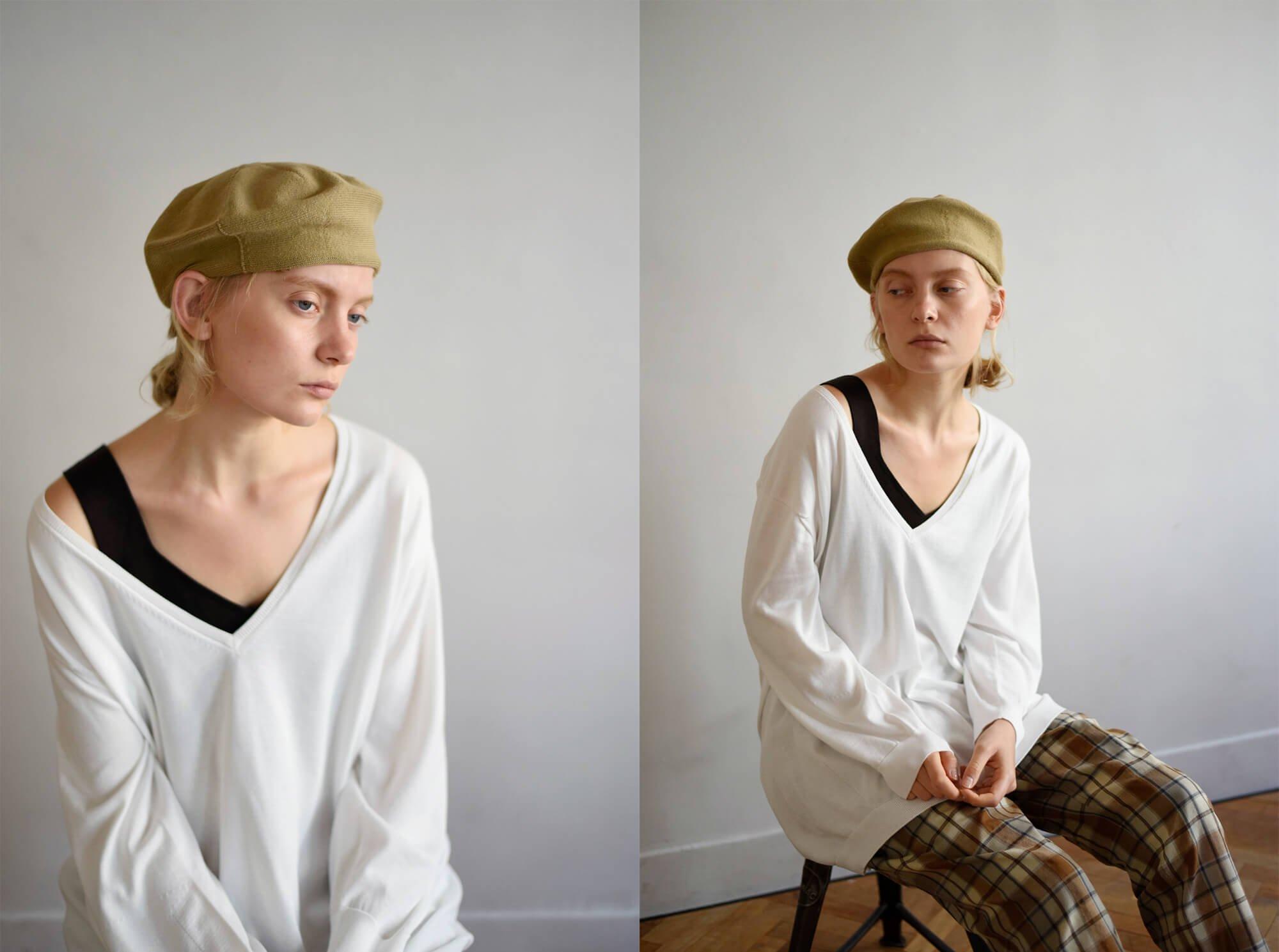 egyptian cotton fine gauge-knit sweater