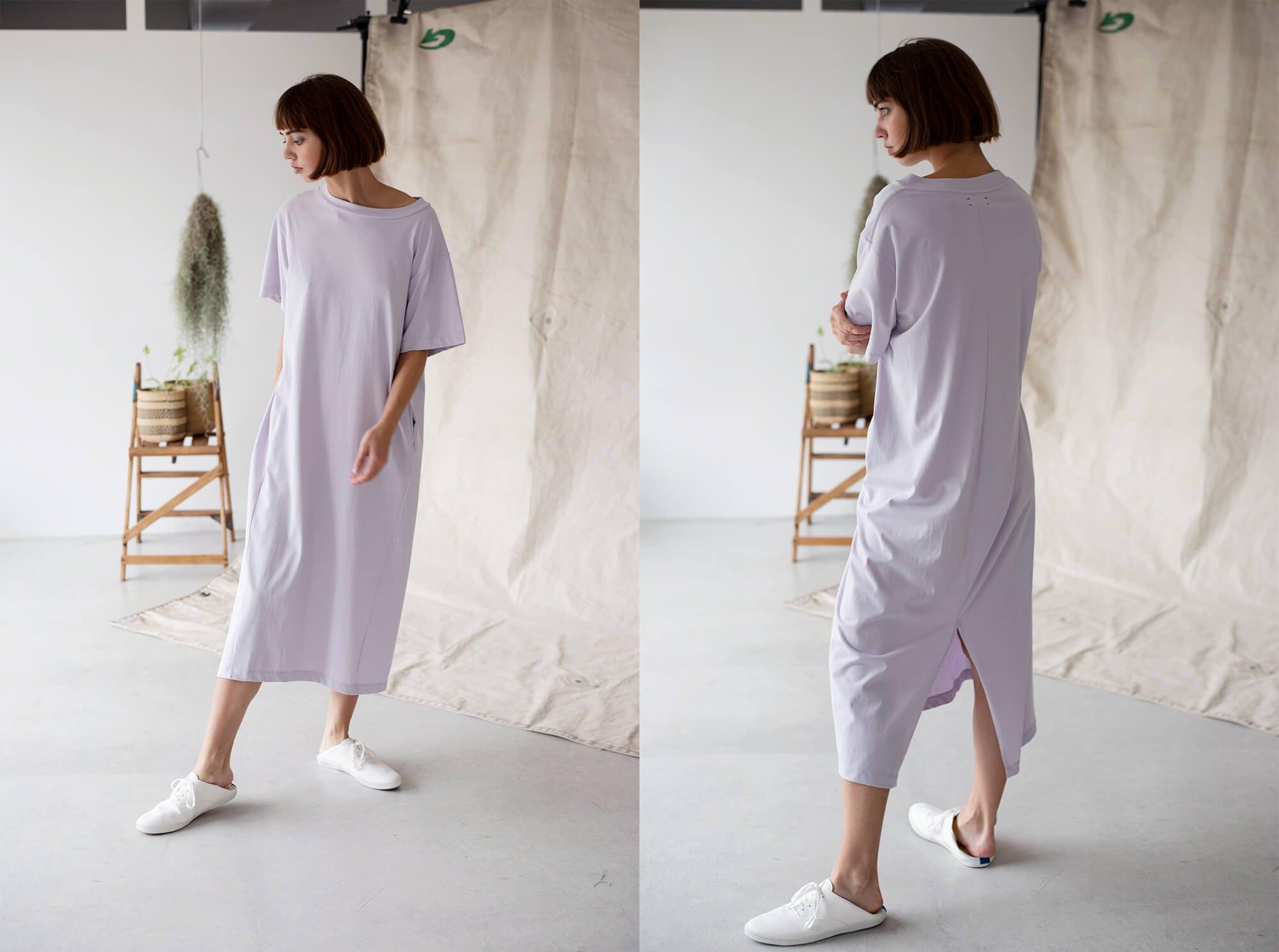 organic cotton jersey T-shirt dress
