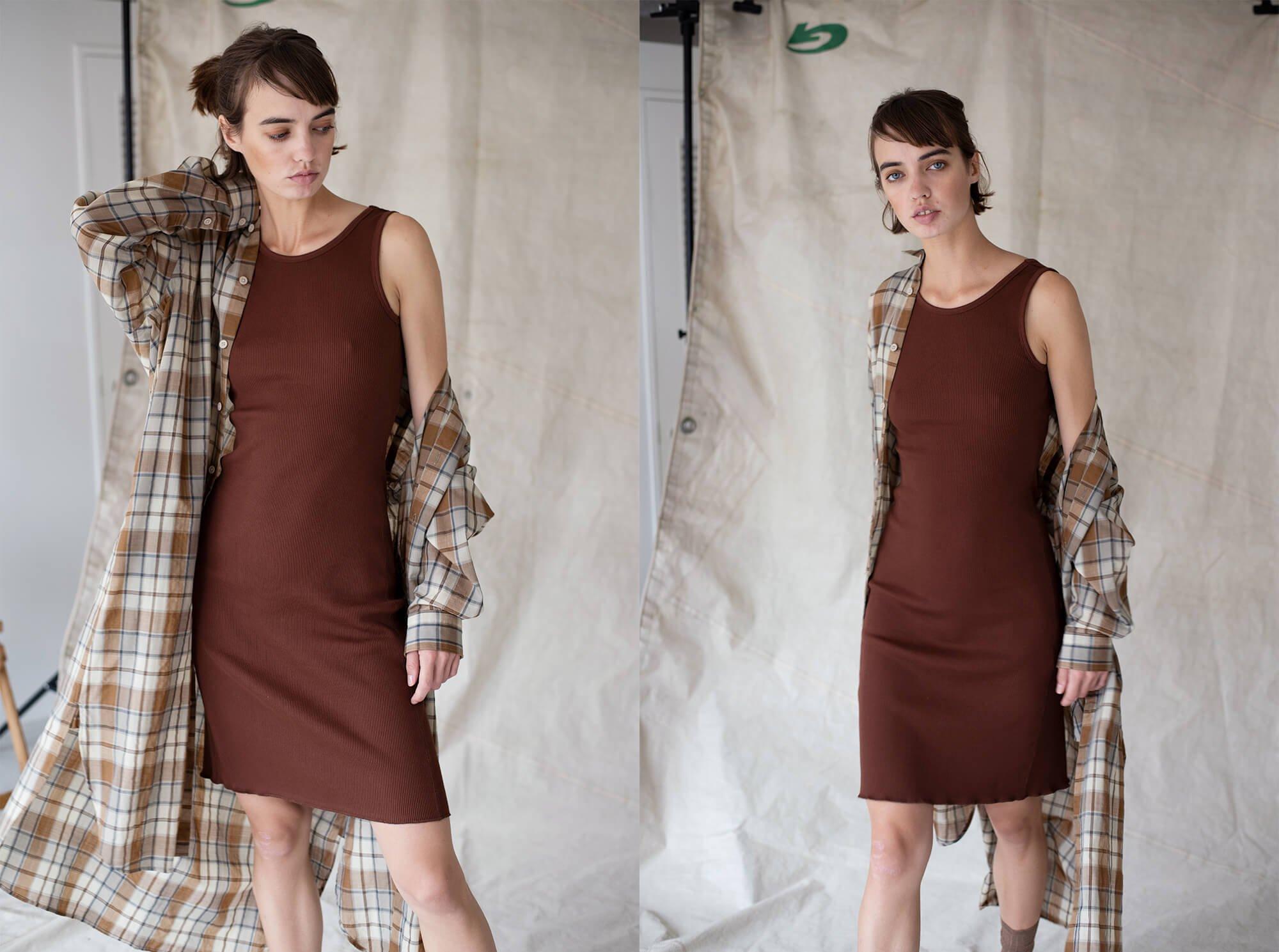 organic cotton ribbed jersey tank dress