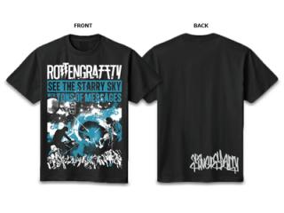 ROTTENGRAFFTY SILVER T-Shirt 【RO1049BK】