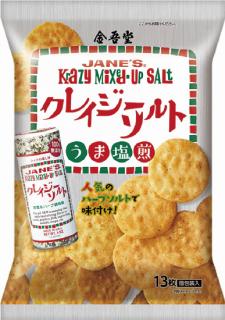 金吾堂製菓 <br>クレイジーソルト塩煎 13枚入