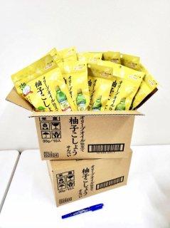 金吾堂製菓 <br>40%OFF!!<br>2㌜40%offセットでお買得品‼<br>〈オリーブオイル仕立て 柚子こしょうせんべい  (30g×10袋)×2㌜〉