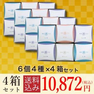 【送料込み】<br>東京専べいニジュウマル6個(4種)×4箱セット
