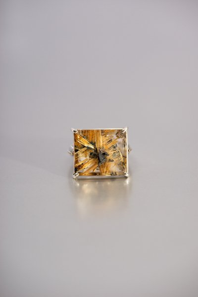 NR5 / Star Rutile Quartz Ring