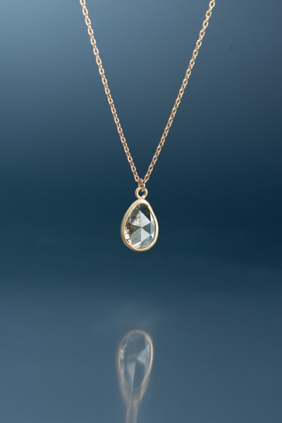 NR47 / Slice  Diamond Necklace(White)