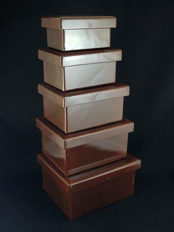 小さな切溜 五個組 / 'Kiridame' Boxes(miniature size)  set of 5