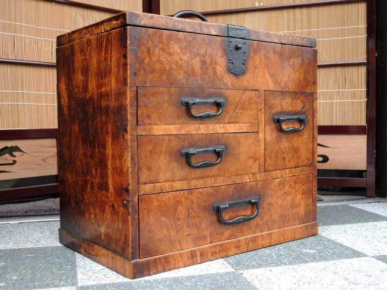 総欅硯箱 / Ink Stone Box