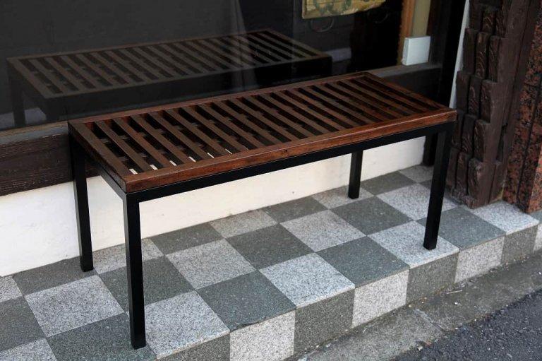 帳場格子ベンチ / 'Choba Koshi'  Merchant's Fence  Bench