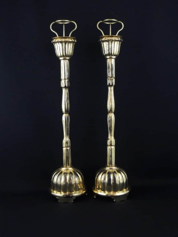 金塗燭台 一対 / Gold-lacquered Candle Sticks  1 pair