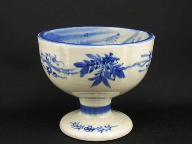 瀬戸染付盃洗 / Seto Blue & White 'Haisenn' Sake Cup Washing Bowl