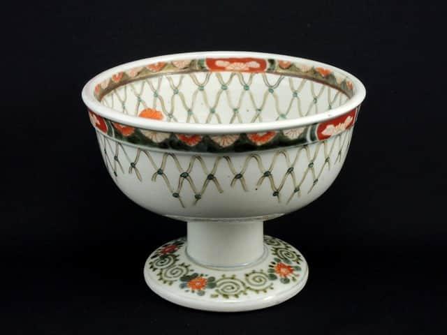 伊万里色絵編手文盃洗 / Imari Polychrome 'Haisen' Sake Cup Washing Bowl