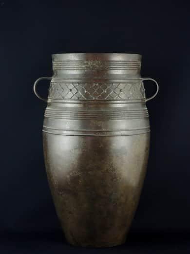斑紫銅 花瓶 / 'Hanshido'  Bronze Flower Vase