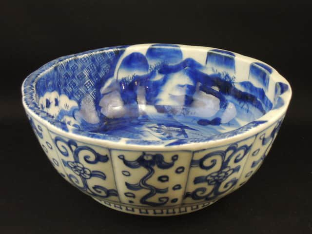 伊万里染付鉢 / Imari Blue & White Large Bowl