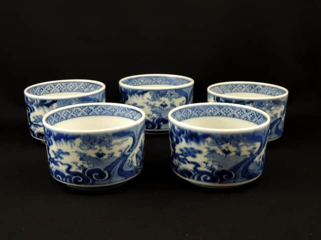 伊万里染付向付 五客組 / Imari Blue &White 'Mukoduke' Cups  set of 5