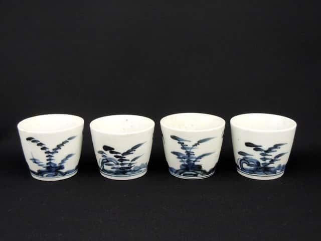 伊万里染付蕎麦猪口 四客組 / Imari Blue & White Soba Cups  set of 4