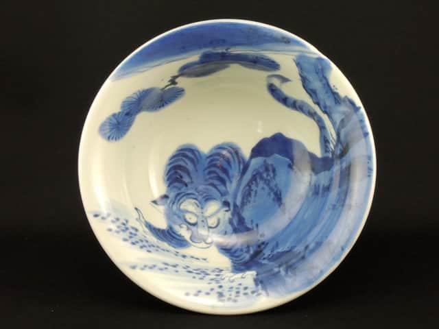 伊万里染付虎の図盃洗 / Imari Blue & White 'Haisen' Sake Cup Washing Bowl with the picture of Tiger