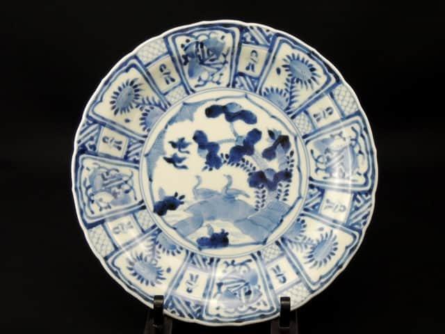 伊万里染付芙蓉手七寸皿 三枚組 / Imari Blue & White Plates with the pattern of 'Fuyode'  set of 3