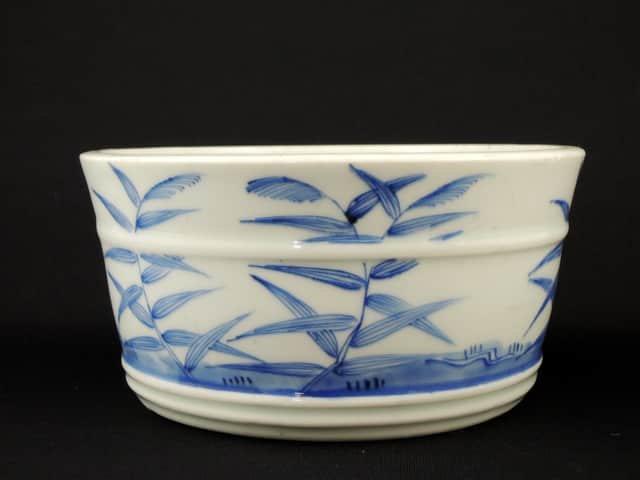 伊万里染付すすき雁文鉢 / Imari Blue & White Bowl with the picture of 'Susuki' and Goose