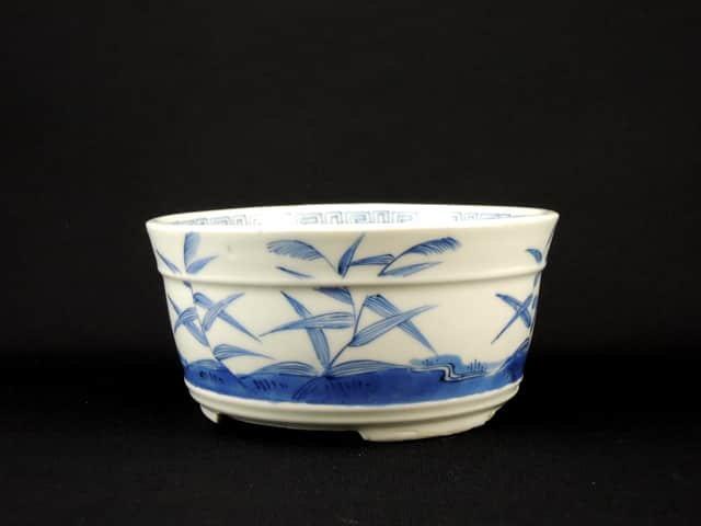 伊万里染付すすき雁文鉢(S) / Imari Blue & White Bowl with the picture of 'Susuki' and Goose(S)