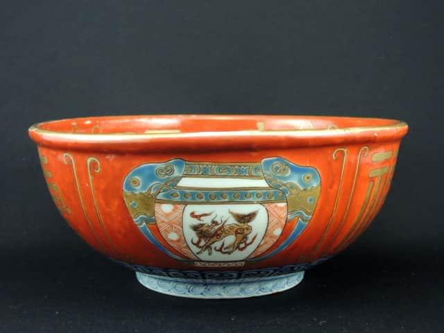 伊万里赤絵福寿文大鉢 / Imari Polychrome Large Bowl