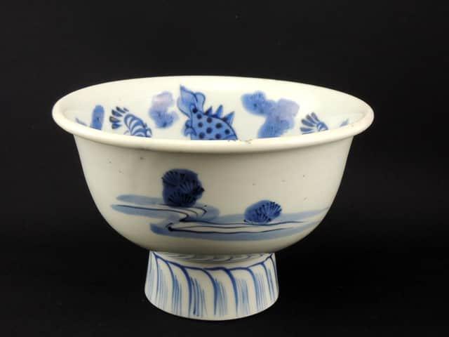 伊万里染付盃洗 / Imari Blue & White 'Haisen' Sake Cup Washing Bowl