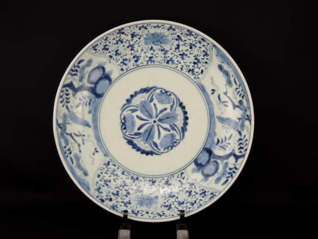 伊万里染付花唐草文大皿 / Imari Large Blue & White Plate with the pattern of 'Hanakarakusa'