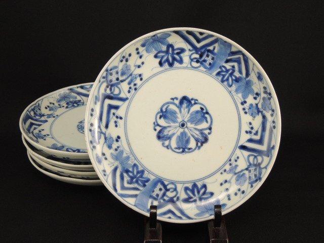 伊万里染付六寸皿 五枚組 / Imari Blue & White Plates  set of 5