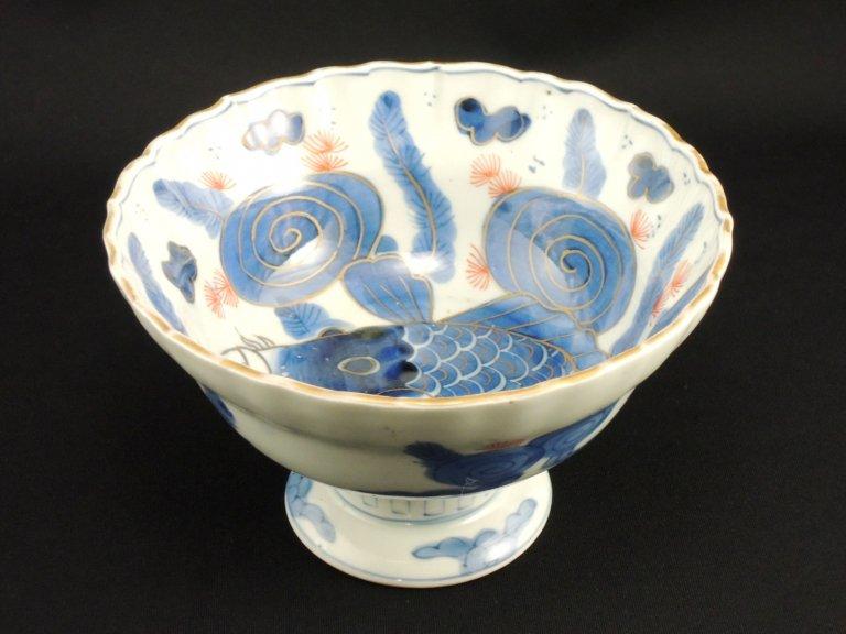 伊万里色絵登竜門の図盃洗 / Imari Polychrome 'Haisen' Sake cup Washing Bowl