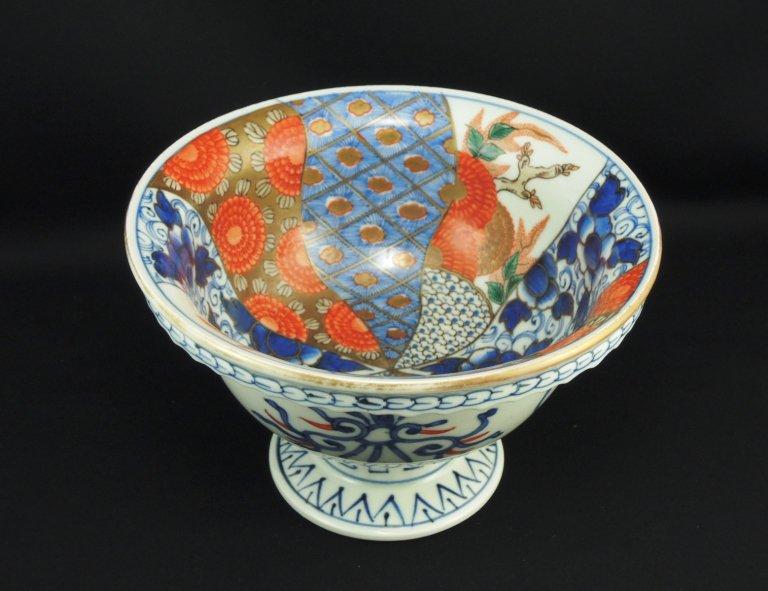 伊万里色絵捻文盃洗 / Imari Polychrome 'Haisen' Sake cup Washing Bowl