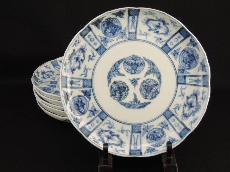 伊万里染付七寸皿 六枚組 / Imari Blue & White Plates  set of 6