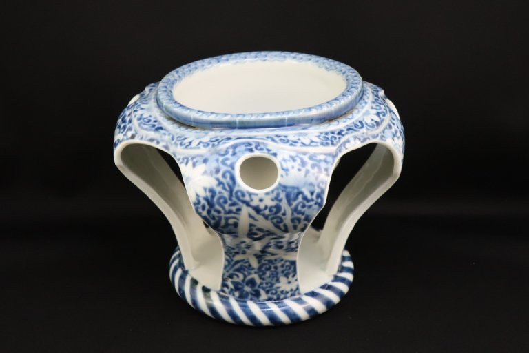 伊万里染付大盃洗 / Imari Blue &White 'Haisen' Sake cup Washing Bowl